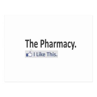 The Pharmacy...I Like This Postcard