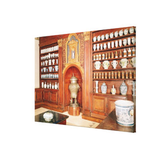The pharmacy of the Saint-Jean Hospital Stretched Canvas Prints