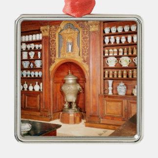 The pharmacy of the Saint-Jean Hospital Metal Ornament