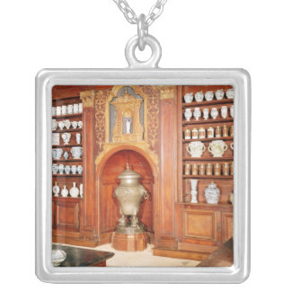 The pharmacy of the Saint-Jean Hospital Silver Plated Necklace