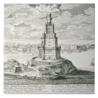 The Pharos of Alexandria, plate 9 from 'Entwurf ei Tile