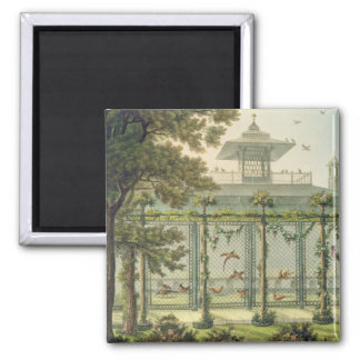 The Pheasantry, engraved by Joseph Constantine Sta 2 Inch Square Magnet