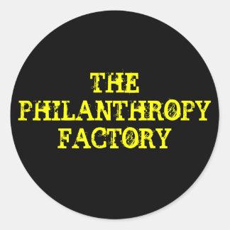THE PHILANTHROPY FACTORY CLASSIC ROUND STICKER