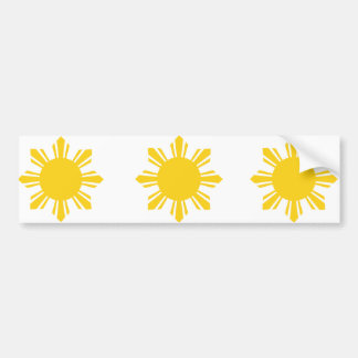the Philippines   cropped sun, Philippines Car Bumper Sticker