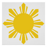 the Philippines   cropped sun, Philippines Poster