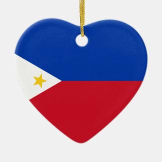 The Philippines (Pilipinas) flag Ceramic Ornament