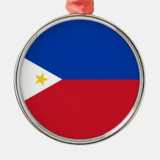 The Philippines (Pilipinas) flag Metal Ornament