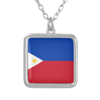 The Philippines (Pilipinas) flag Silver Plated Necklace