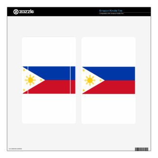 The Philippines (Pilipinas) flag Skin For Kindle Fire