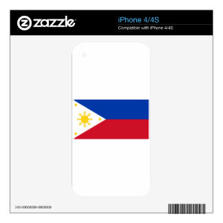 The Philippines (Pilipinas) flag Skins For iPhone 4
