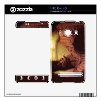 The philosopher by Rembrandt Harmenszoon van Rijn HTC Evo 4G Decals