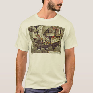 The Philosopher Pyrrho In Stormy Seas By Petrarca- T-Shirt