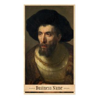 The Philosopher  Rembrandt baroque portrait art Business Card Template