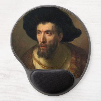 The Philosopher  Rembrandt baroque portrait art Gel Mouse Pad