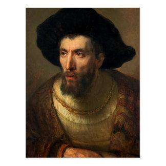 The Philosopher  Rembrandt baroque portrait art Postcard