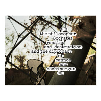 the philosopher Socrates remains and destruction Postcard