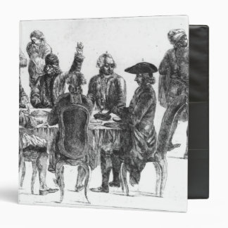 The Philosophers at Supper, c.1750 3 Ring Binder