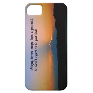 The Philosophy of a pessimist iPhone 5 Cases
