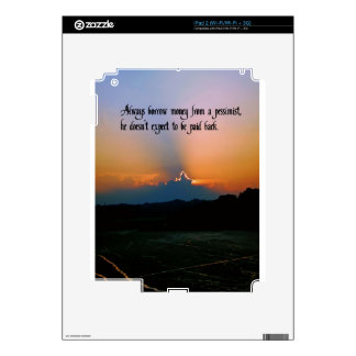 The Philosophy of a pessimist Skin For iPad 2