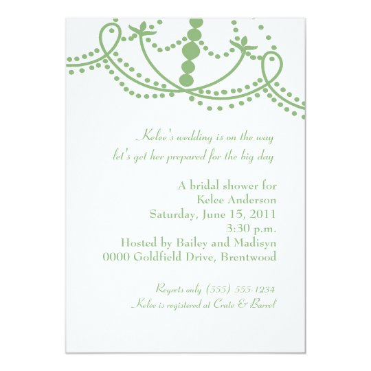 The Phoenician Invitation-leaf green Card
