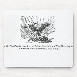 The Phoenix rising from his ashes Mousepad