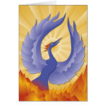 The Phoenix Rising from the Ashes Greeting Card
