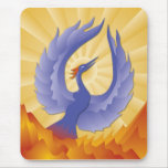 The Phoenix Rising from the Ashes Mousepads