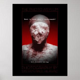 The Photo Asylum - Bandage Face fine art poster