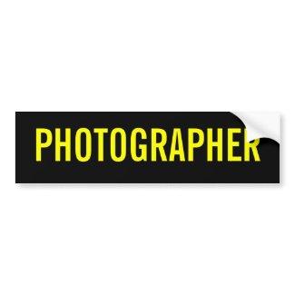 The Photographer bumpersticker