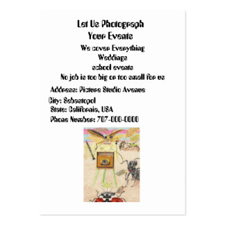 The Photographer Large Business Card