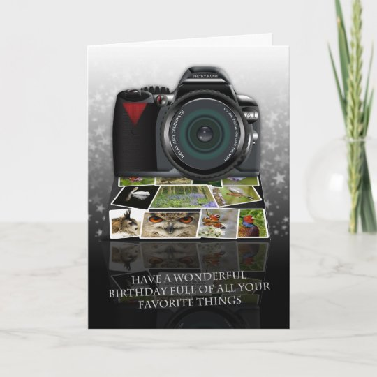 The Photography Birthday Greeting Card Zazzle