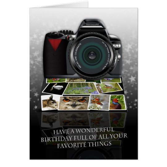 The photography birthday greeting card – Photographer Birthday Card