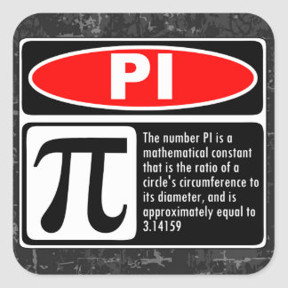 The Pi Explaination Square Sticker