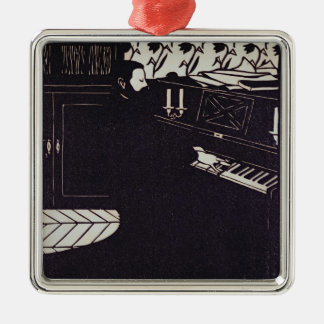 The Piano, 1914 (woodcut) Metal Ornament
