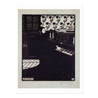 The Piano, 1914 (woodcut) Postcard