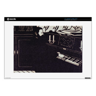 """The Piano 1914 woodcut Skin For 15"""" Laptop"""