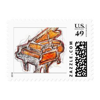 The Piano Custom Postage Stamp