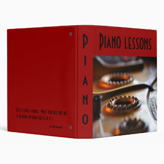 The Piano lesson 3 Ring Binder