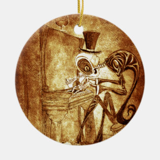 the piano player ceramic ornament