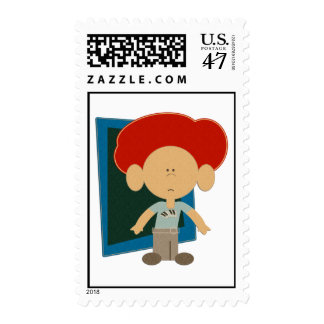 The Piano Player Postage Stamp