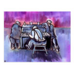 THE PIANO PLAYER POSTCARD