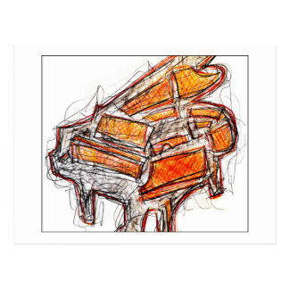 The Piano Post Card