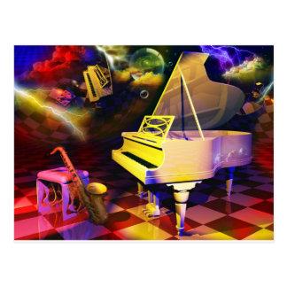 The Piano Postcard