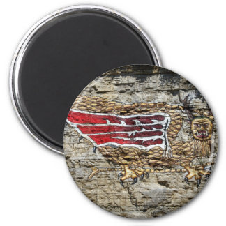 The Piasa 2 Inch Round Magnet