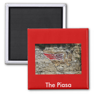 The Piasa 2 Inch Square Magnet