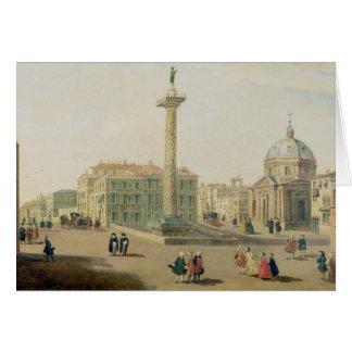 The Piazza Colonna, Rome Card