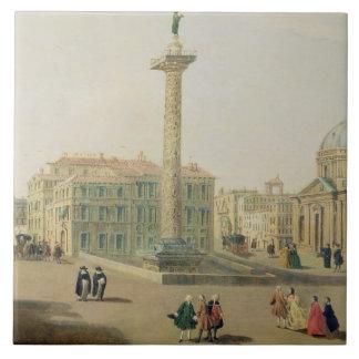 The Piazza Colonna, Rome Ceramic Tile
