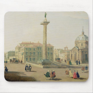 The Piazza Colonna, Rome Mouse Pad