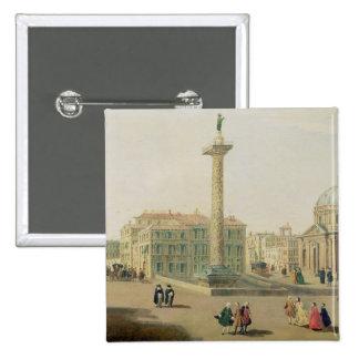 The Piazza Colonna, Rome Pinback Button