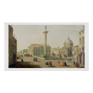 The Piazza Colonna, Rome Poster